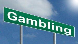 gambling road sign